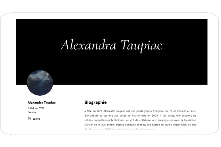Site Alexandra Taupiac